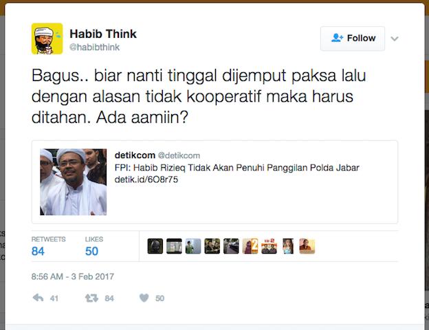 Choky Sitohang Mengamini Salah Satu Postingan di Twitter ...